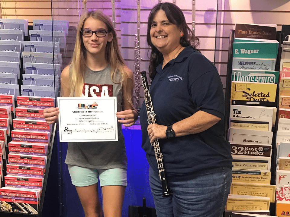Oboe Student of The Month